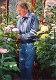 Terry in his Greenhouse